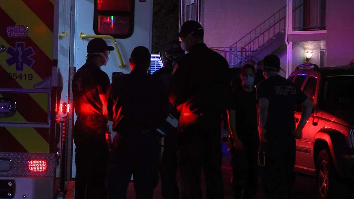 San Antonio police investigate a shooting on the Northwest Side Saturday April, 25, 2020.