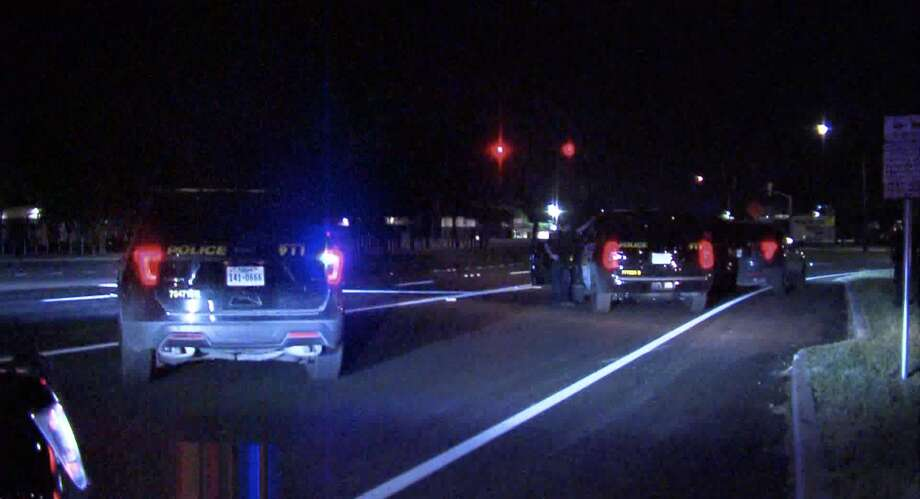 Police say that a man in serious condition after being struck by vehicle early Saturday April 25, 2020. Photo: 21 Pro Video