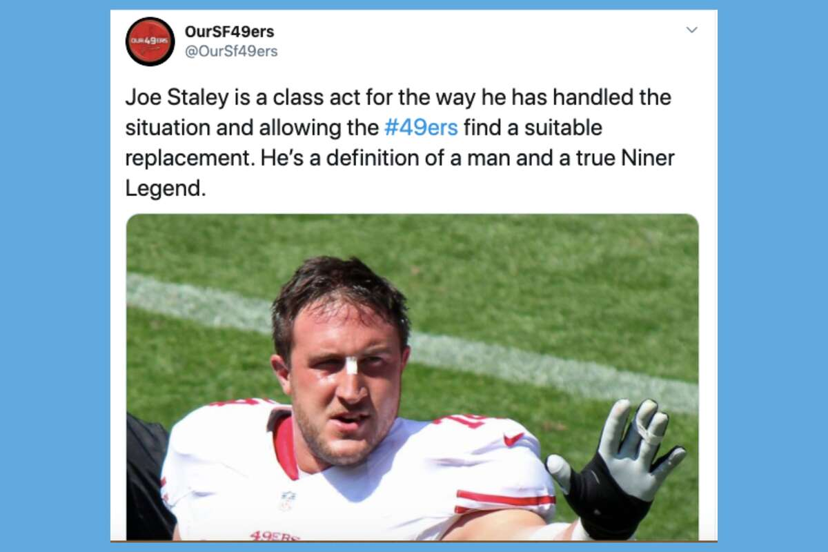49ers fans and reporters pay tribute to Joe Staley after his reported retirement.