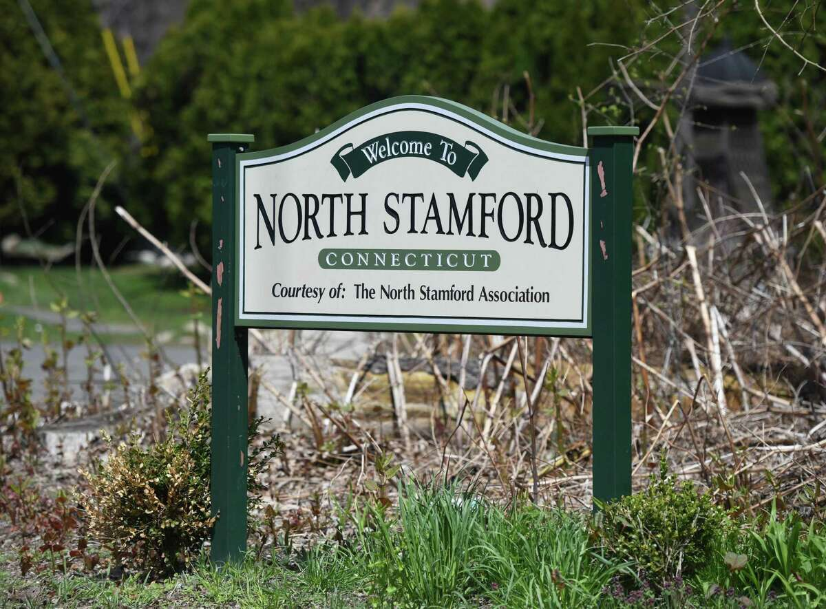 A sign on High Ridge Road welcomes passers by to the neighborhood of North Stamford, Conn. Wednesday, April 22, 2020. North Stamford has been a tough real estate market for years, but folks looking for more space and lower prices are beginning to look to North Stamford as opposed to the dense, fast-growing downtown areas.
