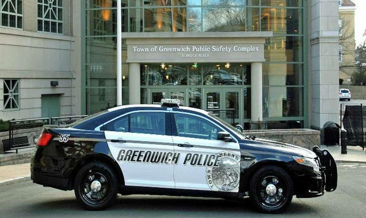 File photo of a Greenwich, Conn., police cruiser.