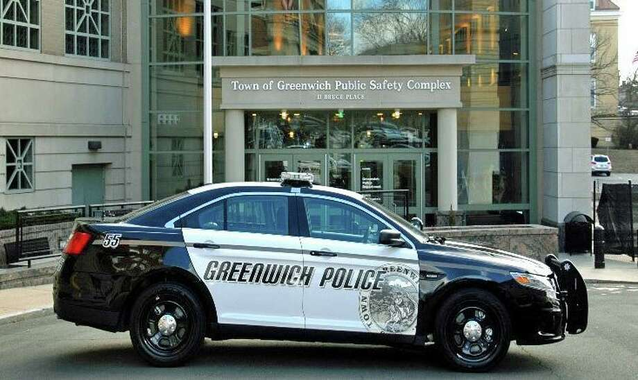 File photo of a Greenwich, Conn., police cruiser. Photo: Contributed Photo / Greenwich Police Department
