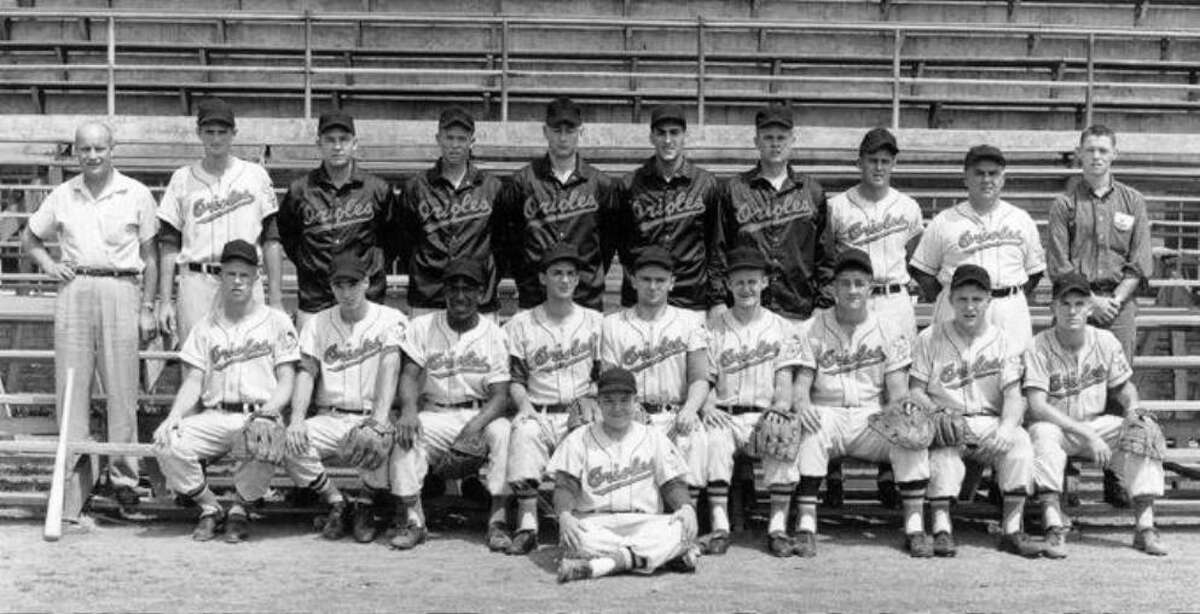 A team photo from Steve Dalkowski's first minor league stop right out of high school in 1957 in Kingsport, Tenn.