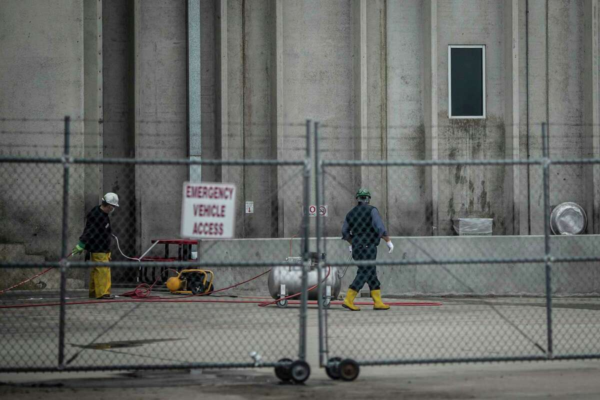 The JBS USA meat processing plant in Greeley, Colo., is sanitized April 18 after being closed by Weld County health officials. Two plant workers have died of covid-19, the illness caused by the novel coronavirus.