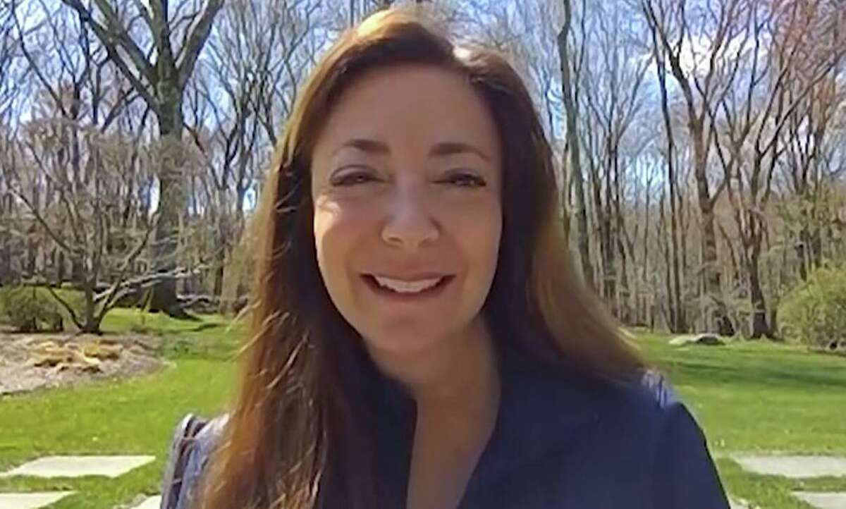 A screenshot of the video posted by Weston Today shows Gayle Weinstein during her interview with Ted Craft.