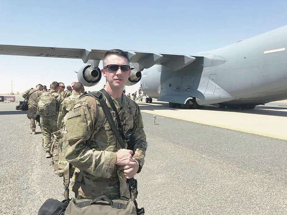 Cpl. Lyle Bloomfield prepares to leave for deployment. Photo: Photos Provided