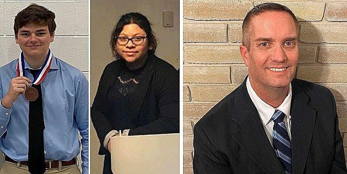 DHS senior Ryan Roseman, and Lee College sophomore Vanessa Rangel are products of the Dayton High School debate program headed by DHS Debate Coach James Kingsmill.