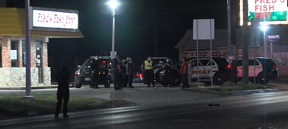 San Antonio police say a man was hit by a vehicle following an altercation on the South Side Saturday night April 25, 2020.