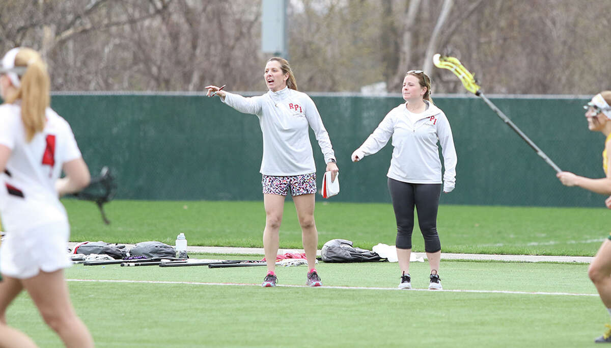 Leslie DeLano became the head women's lacrosse coach in 2003 and has since earned the most wins school history while taking the Engineers to levels not previously reached. Her teams have three of the top four single season win totals and three league championships.(RPI photo)