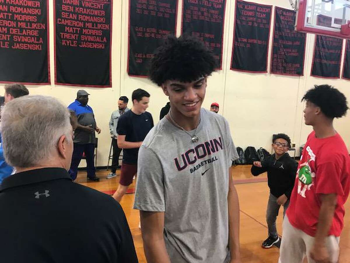 Andre Jackson, on the day he committed to play at UConn.