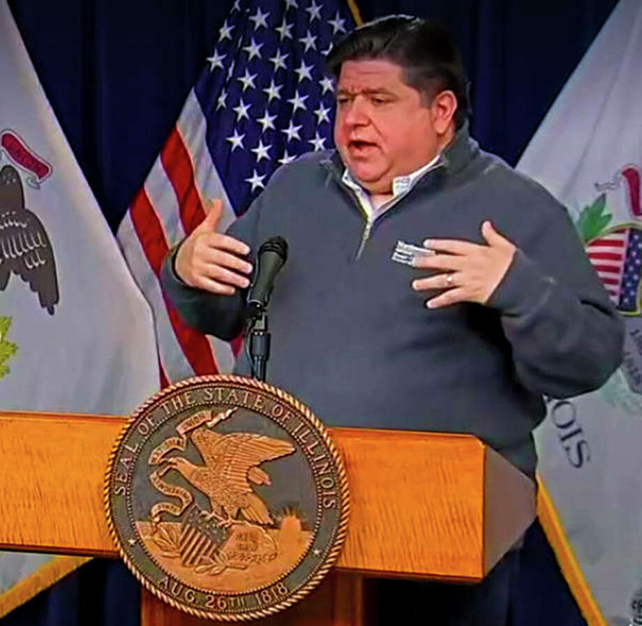 Gov. J.B. Pritzker responds to questions from the press on Sunday's COVID-19 daily briefing.