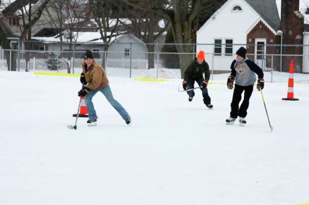 The Manistee County Teen Center, which typically has an outdoor ice skating rink, may see its city funding cut in the 2020-2021 budget. The teen center is located near Sands Park. (File photo)