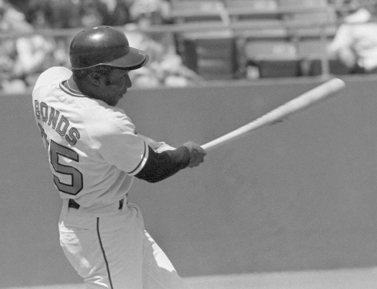 San Francisco Giants' Bobby Bonds is shown in action at Candlestick Park in San Francisco in this May 11, 1973 file photo. Bonds, one of the first major leaguers to blend home-run power with base-stealing speed and the father of one of baseball's greatest sluggers, died Saturday, Aug. 23, 2003. He was 57. (AP Photo/File)