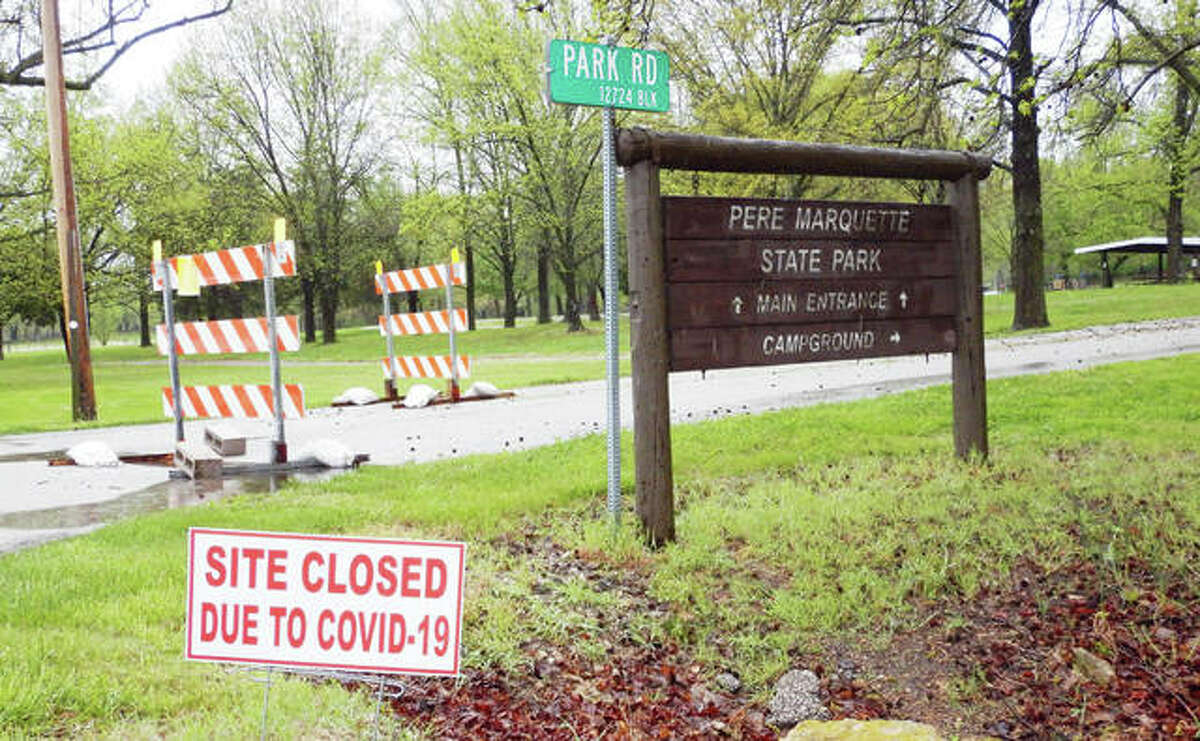 Pere Marquette State Park, a huge perennial tourism draw, has been closed since pandemic restrictions have been put in place.