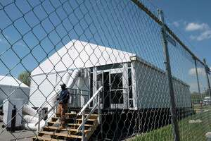 Temporary structures house covid-19 patients in Fort Washington, Maryland.