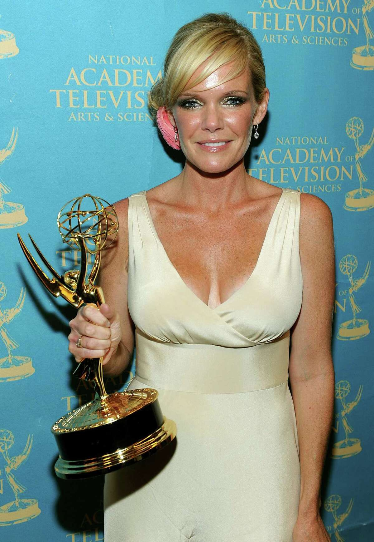 LAS VEGAS - JUNE 27: Actress Maura West poses with the Outstanding Lead Actress Award in the press room at the 37th Annual Daytime Entertainment Emmy Awards held at the Las Vegas Hilton on June 27, 2010 in Las Vegas, Nevada. (Photo by Frazer Harrison/Getty Images for ATI)