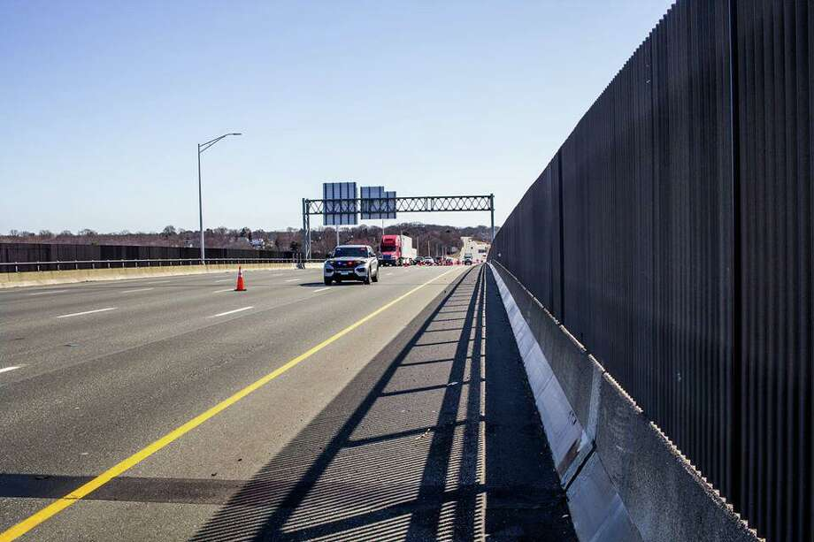 At around 10:30 a.m., State Police were alerted about a motor vehicle traveling southbound in the northbound lanes of I-95 on the Gold Star Memorial Bridge. The driver entered the highway the wrong way from Route 184 in Groton. The driver, an 81-year-old man, had his license seized pending a DMV driver retest. Photo: Stater Police Photo