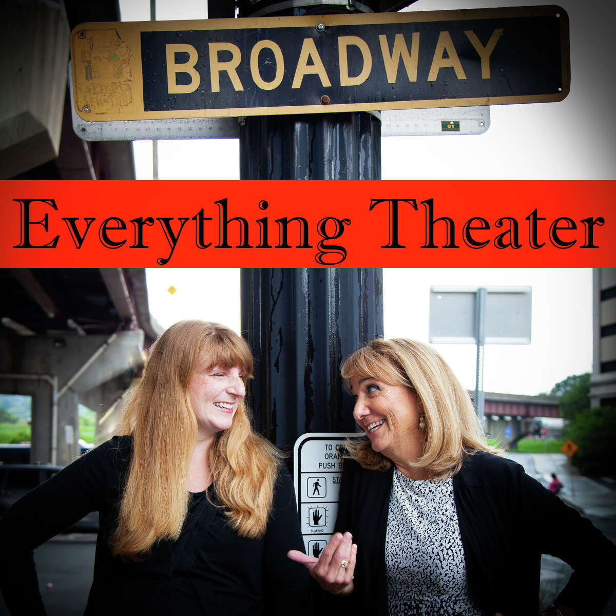 """Main photo for podcast promotion. The hosts of """"Everything Theater."""" Benita Zahn, right, and Ellen Cribbs. photo by Alice Grindling. ET2: The hosts of """"Everything Theater."""" Left to right, Benita Zahn and Ellen Cribbs."""
