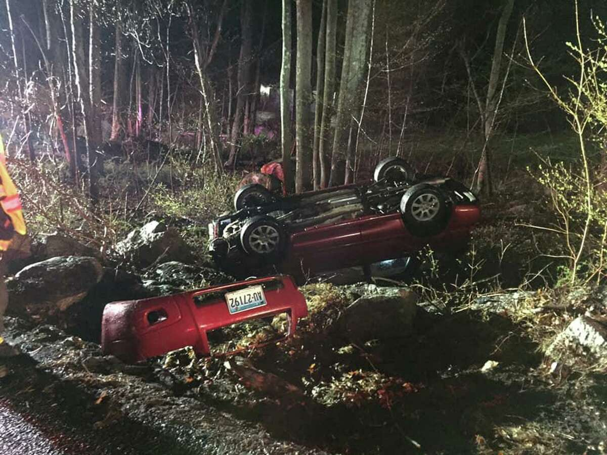 The Stepney Volunteer Fire Department responded to a one-car accident on Hattertown Road near the intersection of Guinea Road around midnight Sunday.