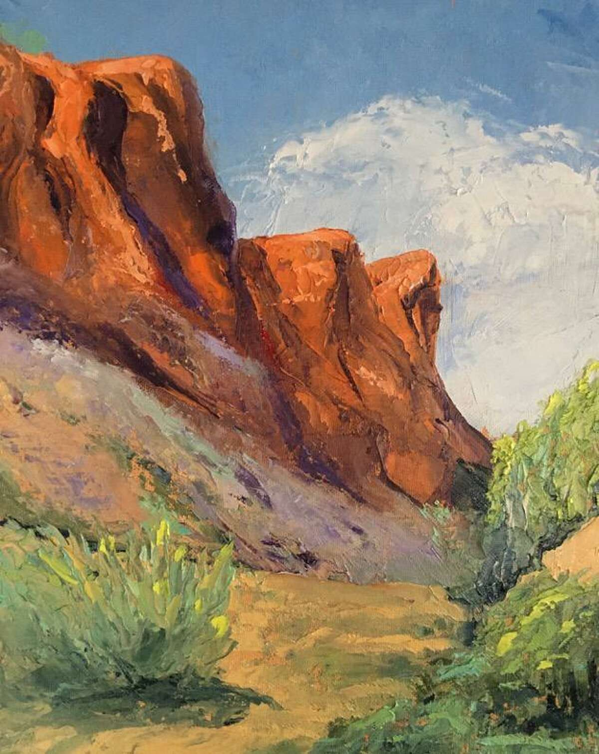 Rowayton Arts Center's Cinco de Mayo Online Paint and Sip is May 5 at 4:30 p.m. RAC Instructor Susan Fehlinger will lead participants through a Southwestern landscape painting using a palette knife only.