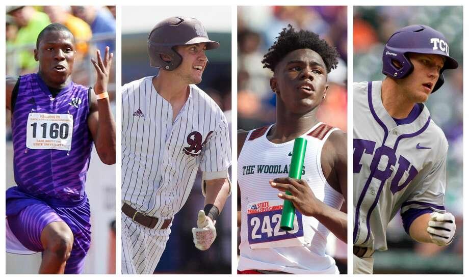 John Lewis, Jordan Groshans, KeSean Carter and Luken Baker are in the Sweet 16. Photo: File Photos