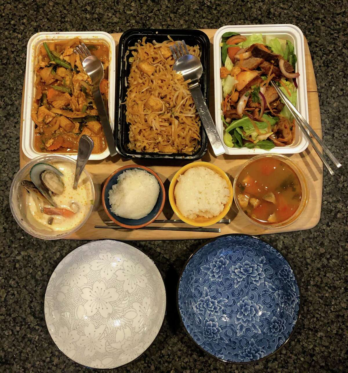 Takeout from Celadon Thai in Latham.