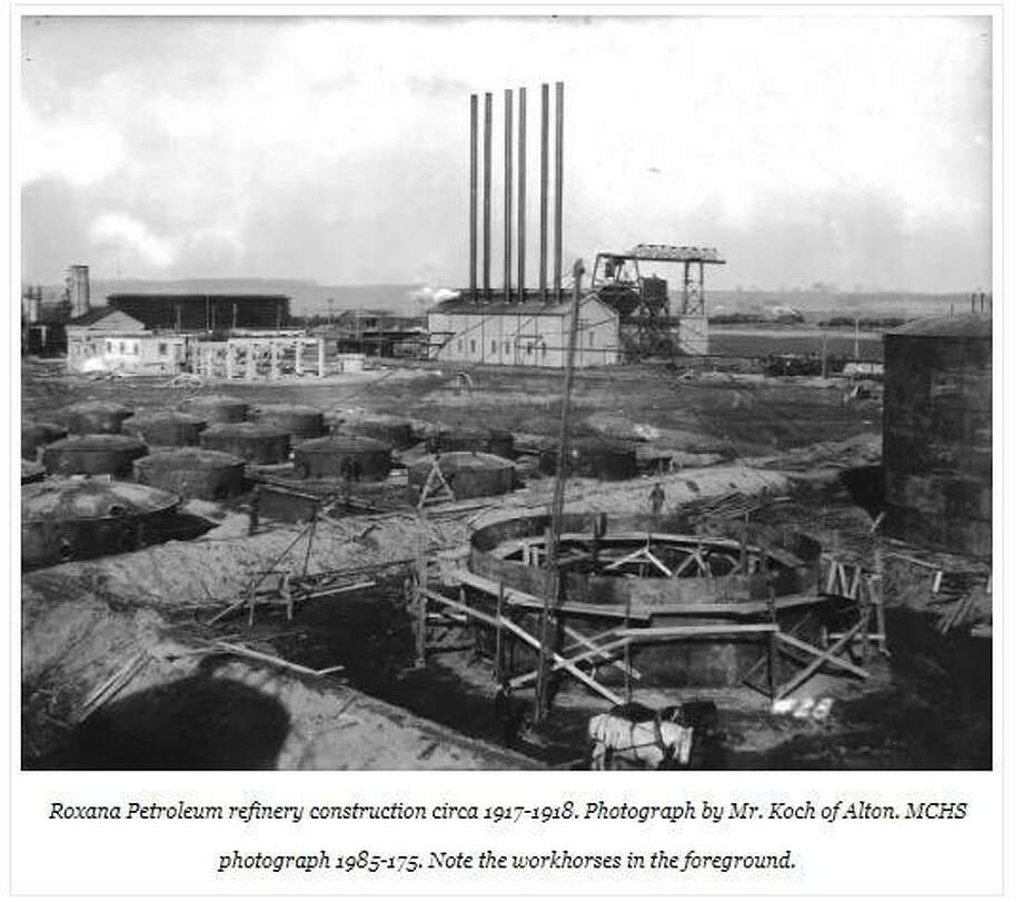 This photo of the Roxana Petroleum refinery in 1917-1918 is part of two exhibits recently put online by the Madison County Historical Society.