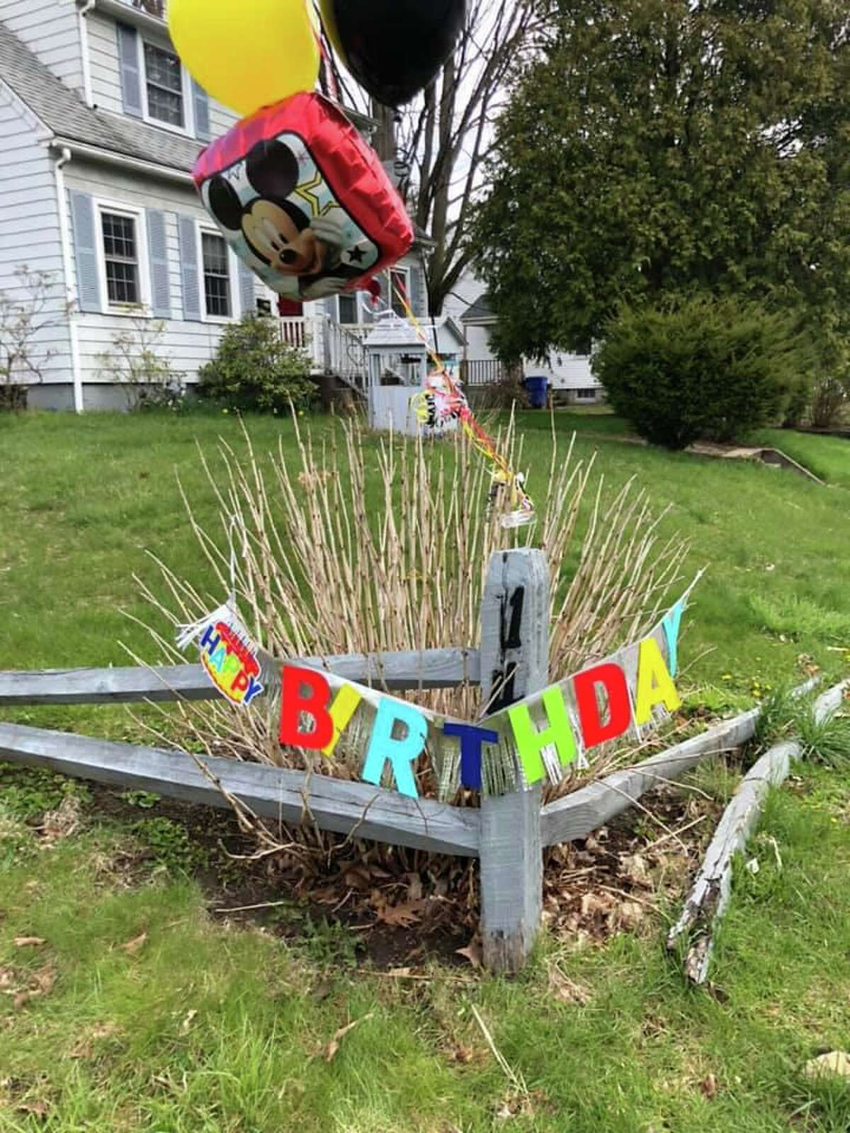 A birthday parade was held for two children in Torrington.