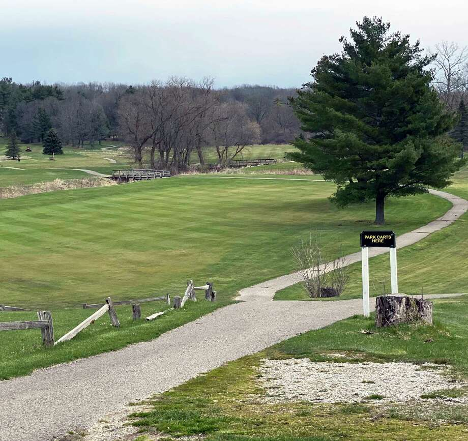 While it has been reopened to the public, Falcon Head Golf Club in Big Rapids is still not able to rent out motorized carts. (Pioneer photo/Joe Judd)