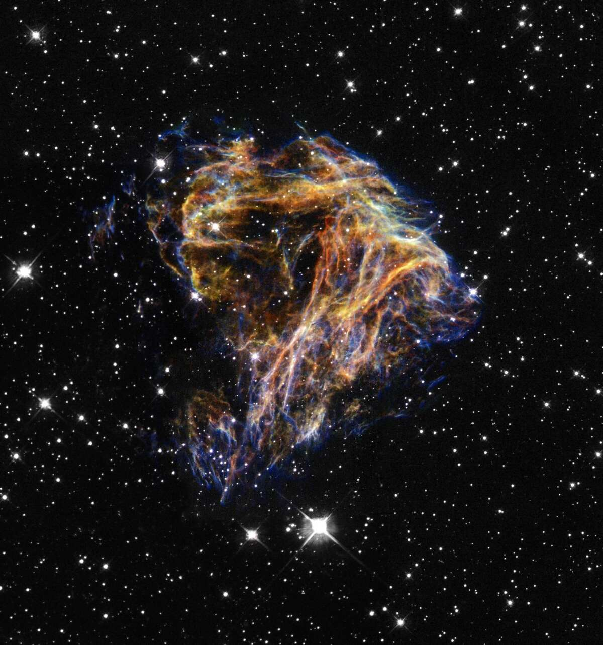 Here's what Hubble saw on Lizzo's April 27 birthday: Supernova Remnant N 49. (Happy birthday Lizzo!)