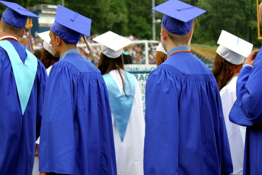 Ascene from a previous Seymour High School graduation. Photo: File