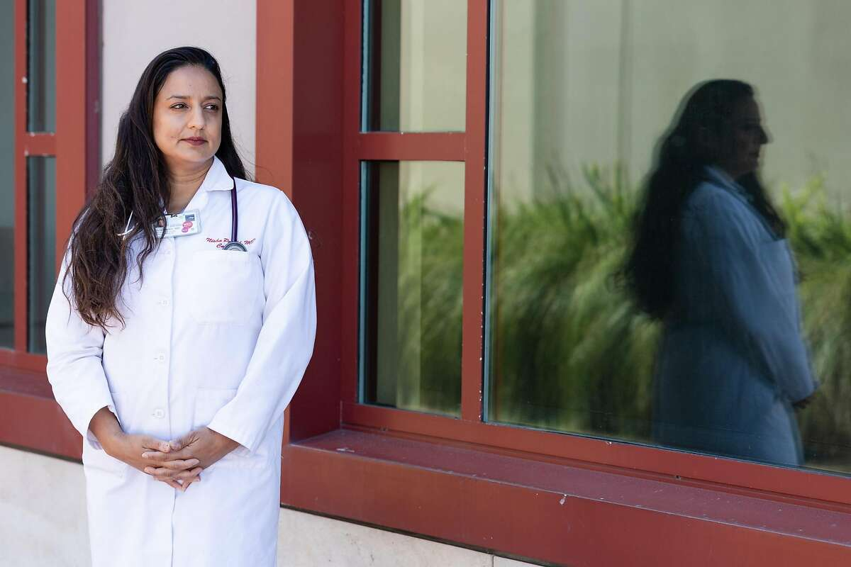 Dr. Nisha Parikh, a cardiologist at UCSF Parnassus, stands for a portrait on Wednesday, April 22, 2020, in San Francisco, Calif.