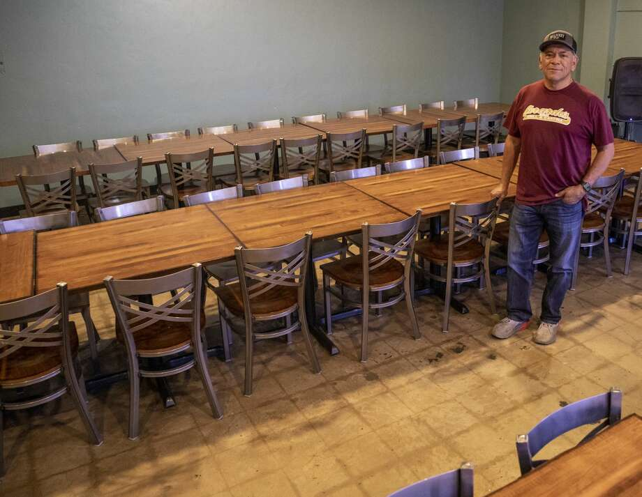 Jerry Morales, owner of Mulberry Cafe, Gerardo's Casita and president of the Permian Basin Restaurant Association, poses in one of the dining rooms Monday, April 27, 2020 at Gerardo's Casita. Photo: Jacy Lewis/Reporter-Telegram