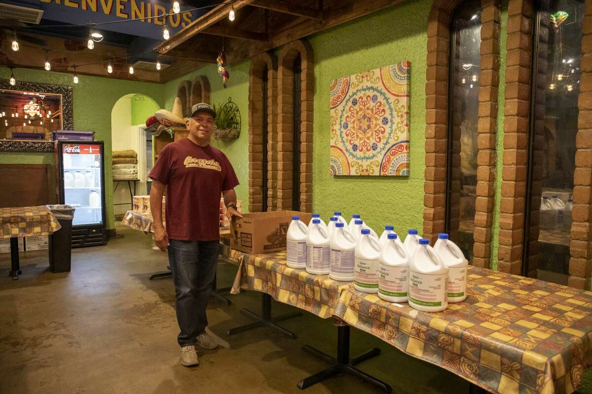 Jerry Morales, owner of Mulberry Cafe, Gerardo?•s Casita and president of the Permian Basin Restaurant Association, poses in the mini market Monday, April 27, 2020 at Gerardo?•s Casita.