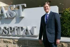 Northeast Methodist Hospital CEO Michael Beaver outside the hospital on April 24.