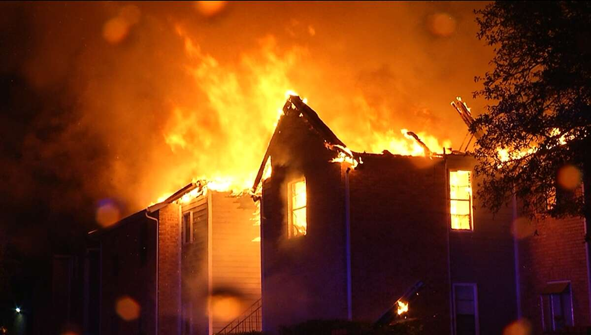 A lightning strike is the likely cause of a second-alarm fire at an apartment complex early Tuesday that destroyed several family homes on the Northeast Side, the San Antonio Fire Department said.