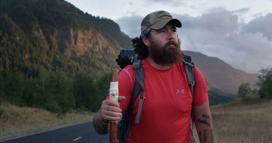 """Bastards' Row"" is a documentary film by Brian Morrison that follows a troubled former Marine who walks 6,000 miles across the country to visit former comrades. His film will be included in the Greenwich International Film Festival's 2020 screenings. Photo: Contributed Photo /"
