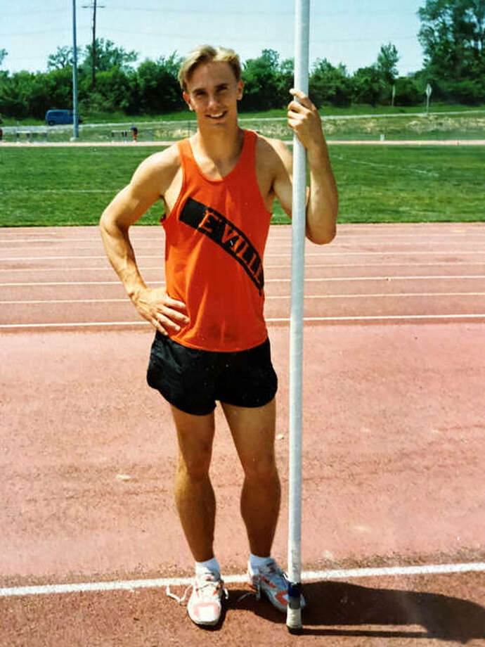 Daren McDonough was a two-time Class AA state champion in the pole vault at Edwardsville. His vault of 17-0.5 during his senior year in 1992 set a state record that lasted for 18 years. Photo: For The Intelligencer