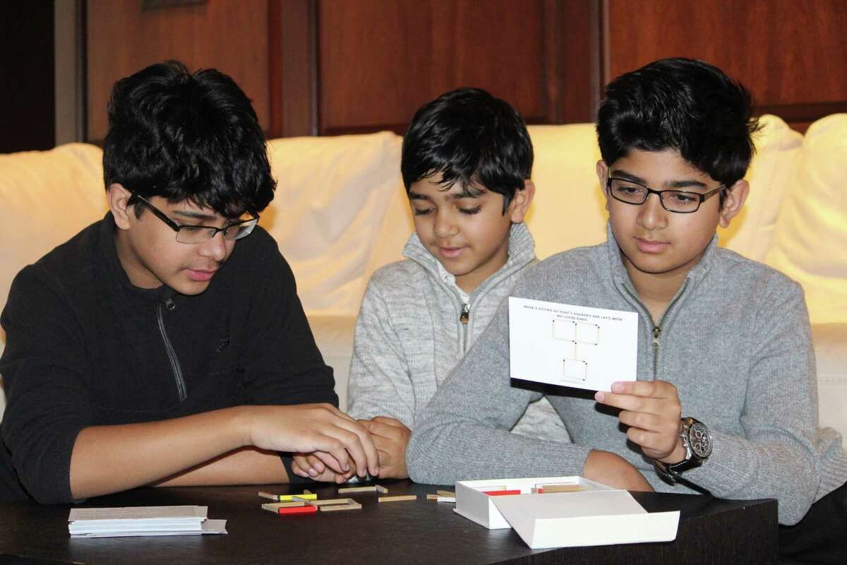 Imran, Irhan and Ishan Iftikar are in the seventh, sixth and second grades at Greenwich Country Day School. For the last year, they have been developing puzzles and games to encourage other kids to like math, which they turned into a real company called MATHinkCo, LLC. They are donating money they earned selling these math games to help the Greenwich Police Department stay protected during the coronavirus pandemic.