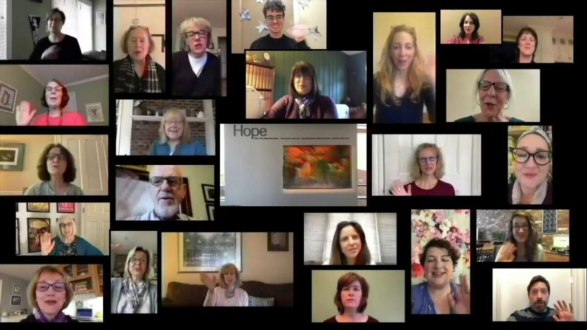Ridgefield Library staff members collaborated on a video poetry reading of Emily Dickinson's, Hope is the thing with feathers in observance of National Poetry Month.