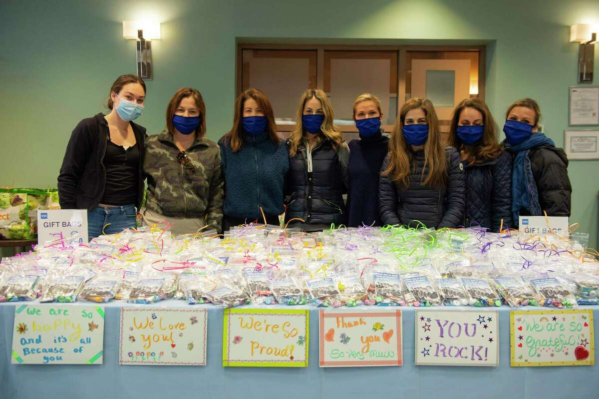Healthcare workers at the Hospital for Special Surgery in Manhattan received care packages that were donated by HSS Angels, a group begun by Greenwich resident Lois Kelly.