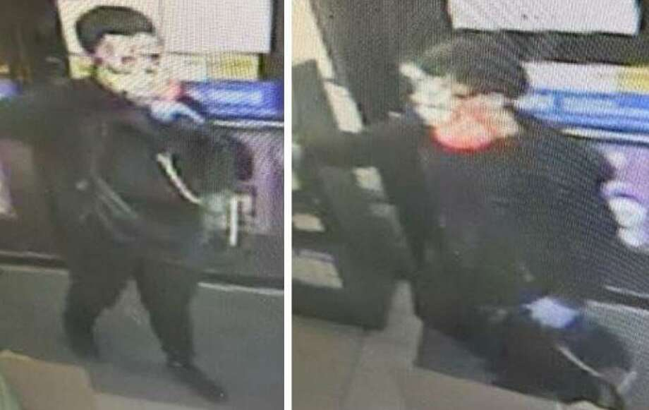 Laredo police are looking for this man in connection with an armed robber reported April 22 at the Stripes on 2401 N. Meadow Ave. People with information on his whereabouts are asked to call police at 795-2800 or Laredo Crime Stoppers at 727-TIPS (8477). Callers will remain anonymous. Photo: Courtesy Photo /Laredo Police Department