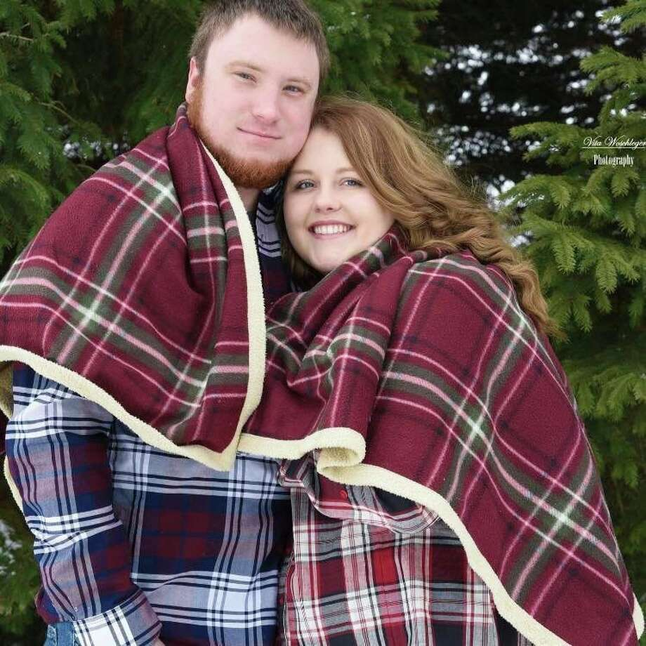 Madison Finkel poses for a photo with her husband Corey. (Courtesy Photo)