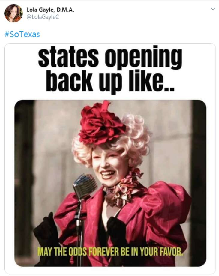 Social media is in a frenzy as people react to the recent announcement by Gov. Greg Abbott to reopen Texas beginning May 1. Photo: Screenshot Twitter
