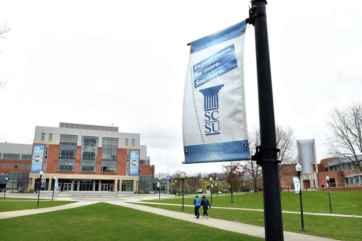 Southern Connecticut State University in New Haven has been nearly deserted since the coronavirus closures in March.