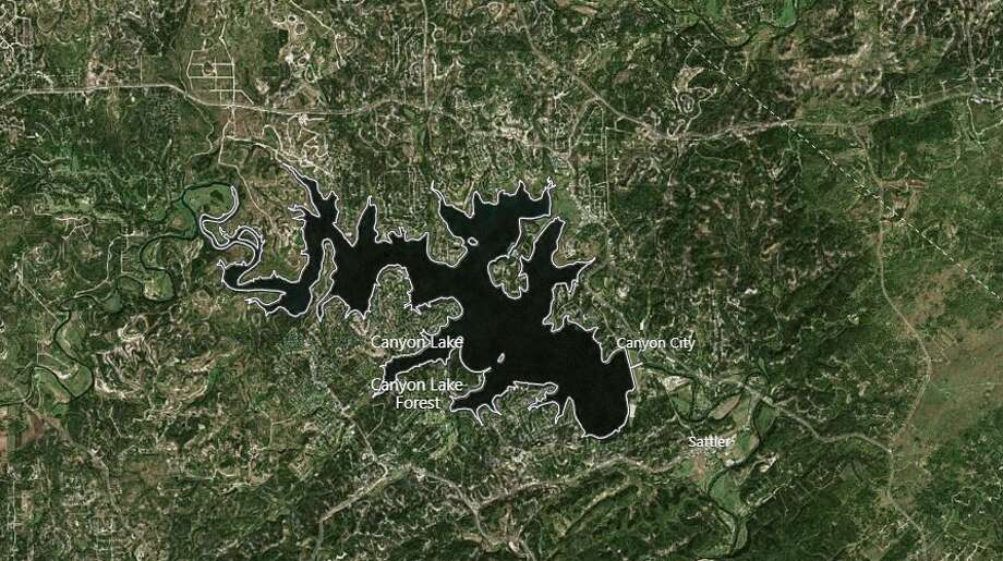 One man was hospitalized after a small plane crashed into Canyon Lake on Tuesday. The photo shows a map of Canyon Lake and its surrounding area. Photo: Google Maps