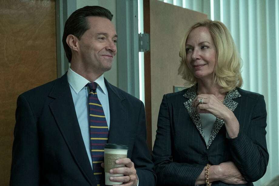 """Hugh Jackman and Allison Janney star in the HBO dram """"Bad Education,"""" which is based on the true story of Long Island school administrators who embezzled millions from their school district. Photo: JoJo Whilden /HBO / HBO"""