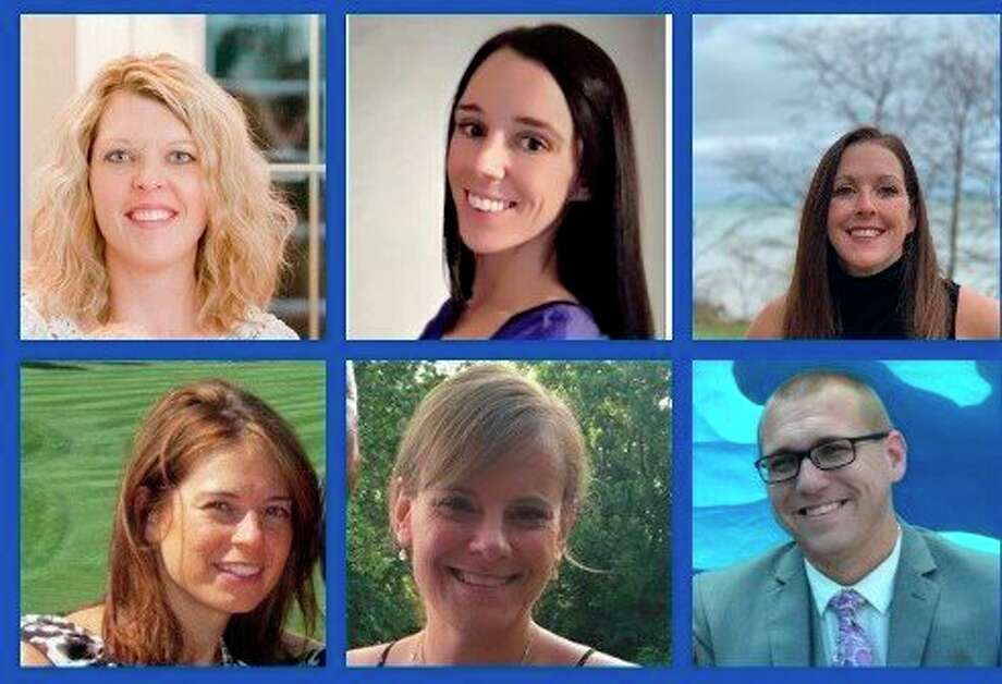 Members of theManistee County Child Advocacy Center are pictured (top row, left to right)Traci Smith, Family Advocate; Kaylee Kosmowski, Trauma Therapist; Megan McCarthy, Executive Director;(bottom) MCCAC Forensic Interviewers Tina Thompson, Kirsten Goodspeed and Alexander Schajter. (Courtesy photos/Manistee County Child Advocacy Center)