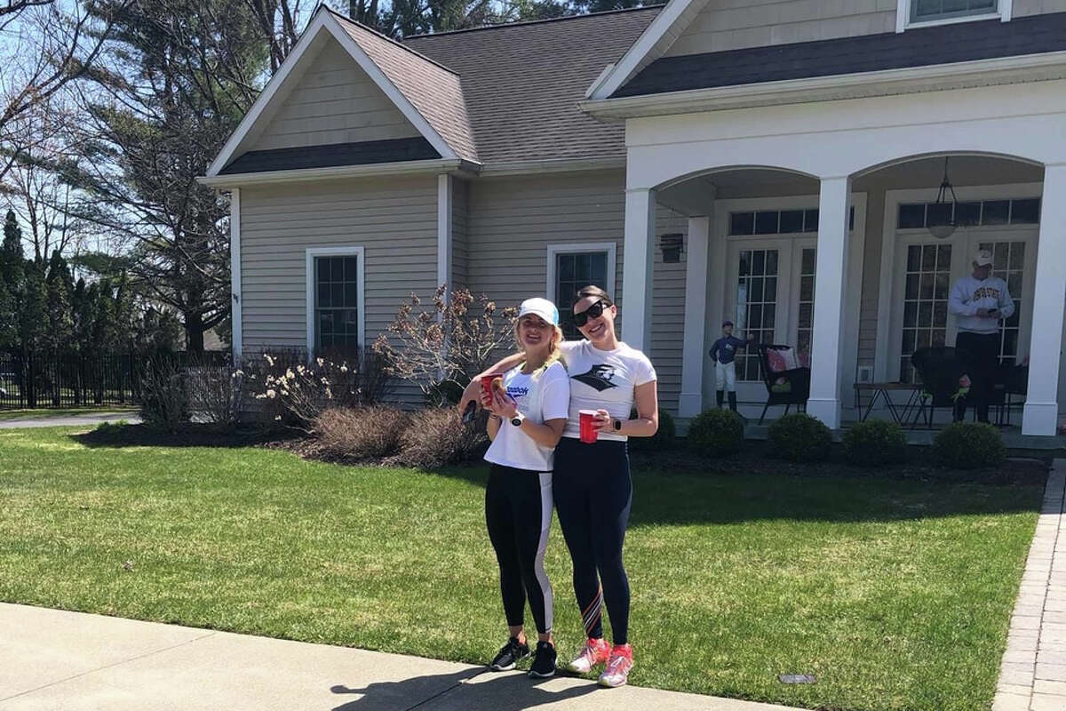 Colleen and Keelin Hollowood, two sisters from Saratoga Springs, completed the Dirty Dozen challenge to raise money for Feeding America. The pair ate 12 doughnuts, drank 12 beers and ran 12 miles in just over 5 hours.
