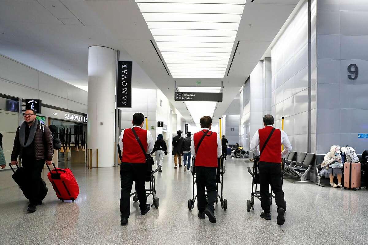 International Terminal at San Francisco International Airport in San Francisco, Calif., on Monday, March 23, 2020.